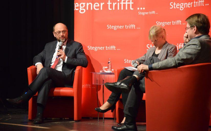Die da oben – Stegner trifft Martin Schulz