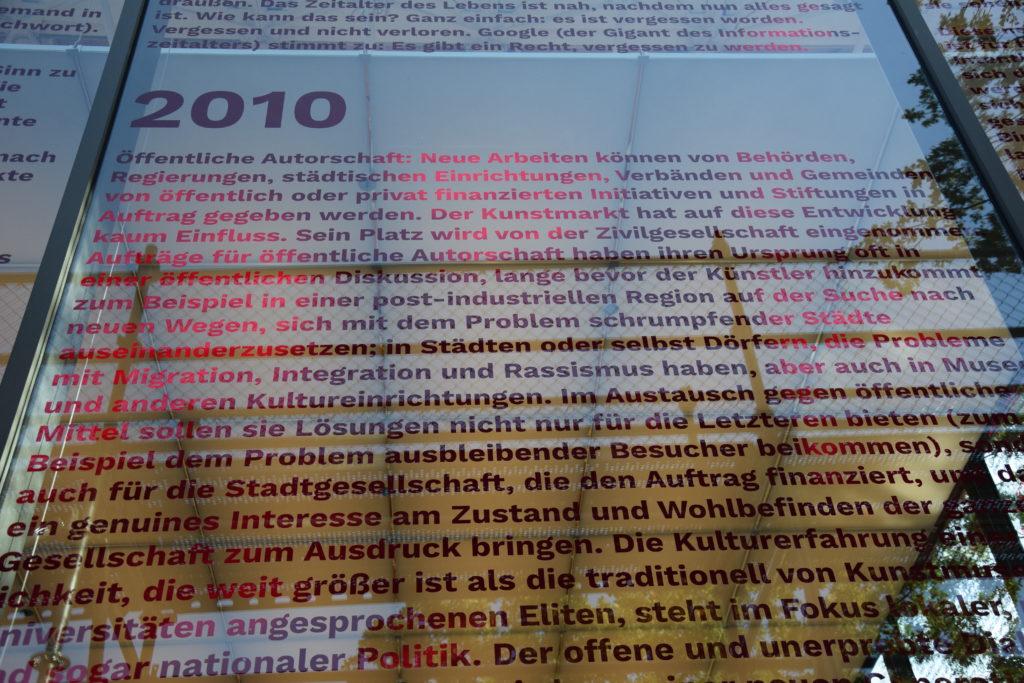 """Der letzte Abschnitt des Essays ist überschrieben mit """"2010"""""""